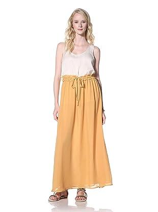 Winter Kate Women's Anila Long Flared Skirt (Golden Nugget)
