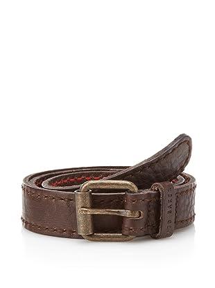 Ted Baker Men's Braska Textured Leather Belt (Chocolate)