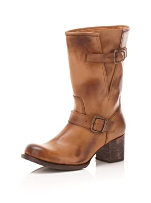BED:STU Women's Victoria Buckled Boot (Tan)