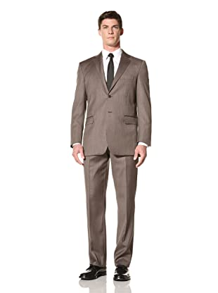 Yves Saint Laurent Men's Herringbone Suit (Brown)