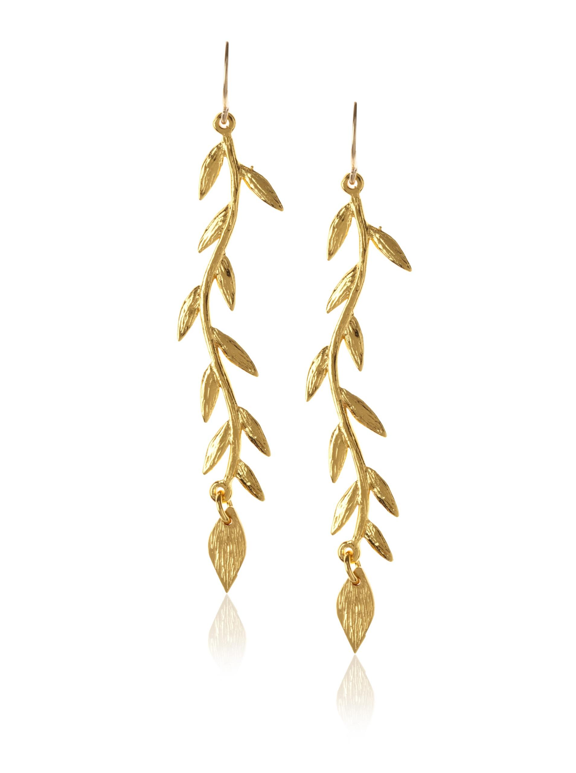 gorjana Vine Drop Earrings, Gold