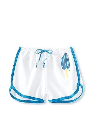 LA Lounge Girl's Popsicle Shorts (White/Blueberry)