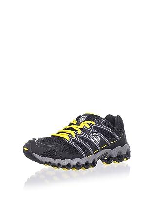 K-Swiss Women's Ultra Tubes 100 Running Shoe (Black/Charcoal/Bright Yellow)