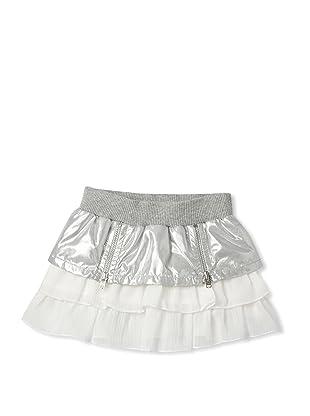 Le Petit Pumm Girl's Layered Skirt (Gray)