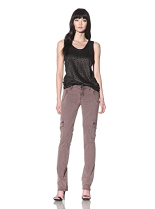 Dylan George Women's Anja Cargo Straight Jeans (Pigment Dye Brown)