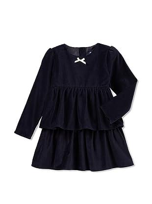 Velvet & Tweed Girl's Velvet Tiers Dress (Navy)