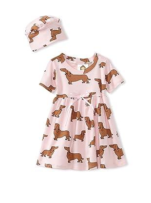 Barn Organics Baby Girl's Dolly Dress with Hat (Hot Dog)