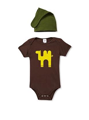 Colette Kids Alejandro Camel Bodysuit + Knot Hat (Brown)