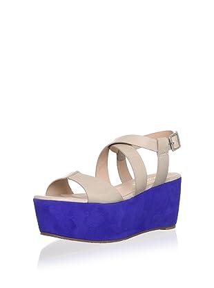 Pour La Victoire Women's Noele Platform Sandal (Taupe/Blue)