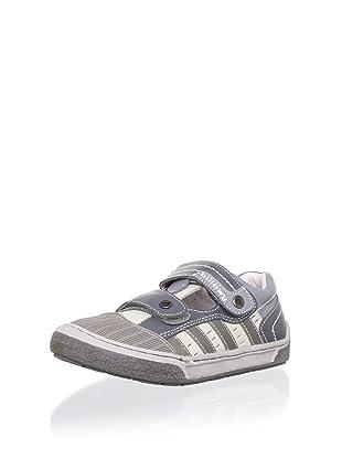 Billowy Kid's Dual Strap Sneaker (Grey)