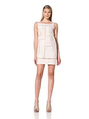 MARTIN GRANT Women's Day Ladder Dress with Boat Neck (Ecru)
