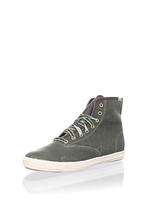 Keds Women's Oiled Canvas Hi Sneaker (Green)
