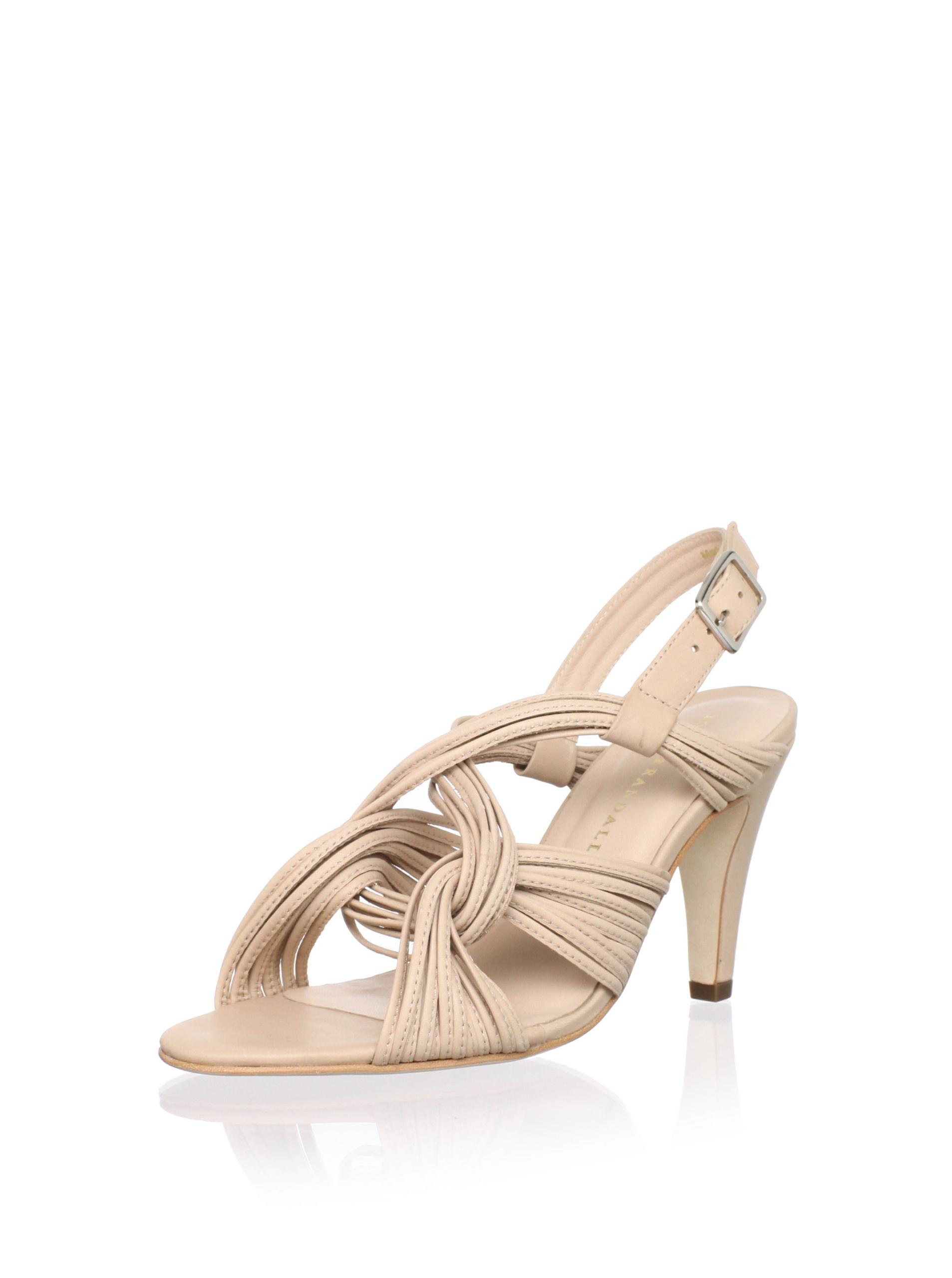 Loeffler Randall Women's Roanne Mignon Mid-Heel Sandal (Nude)
