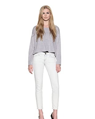Current/Elliot Women's The Crop Skinny Jean (Bleached Out Denim)