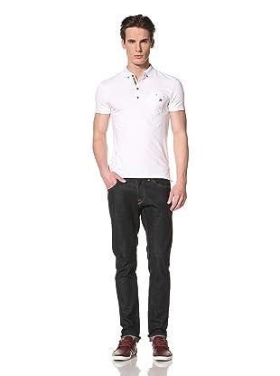 Antony Morato Men's Short Sleeve Polo (White Denim)