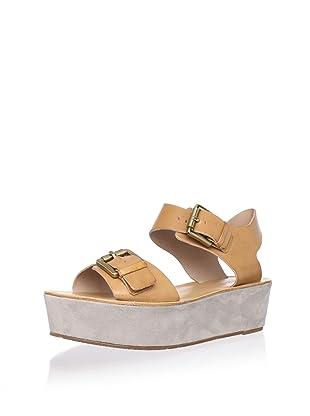 Pour La Victoire Women's Caltha Platform Sandal (Saddle Brown)