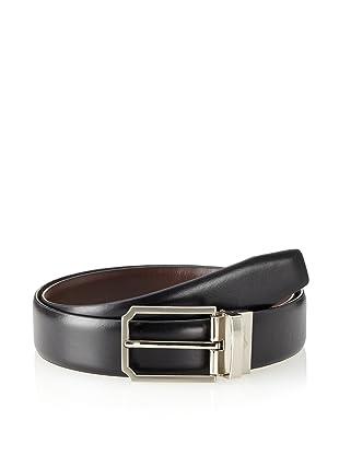 Joseph Abboud Men's Reversible Calf Belt (Black/brown)