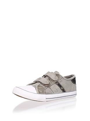 Billowy Kid's Dual Strap Canvas Sneaker (Beige)
