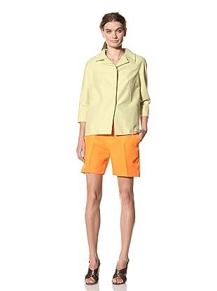 MARNI Women's Notch Collar Jacket (Light Lime Green)