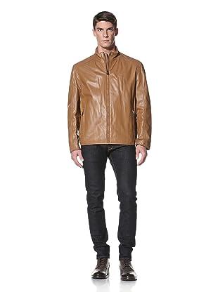 Andrew Marc Men's Am Classic Shirt Collar Jacket (Praline)