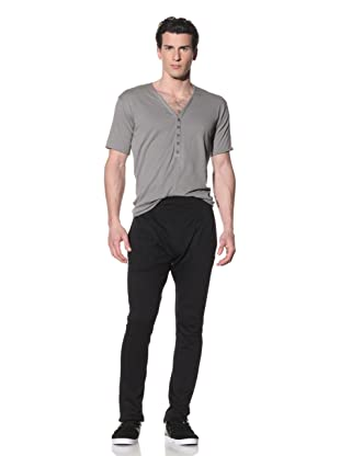 Hip and Bone Men's Terry Drop Fitted Pants (Black)