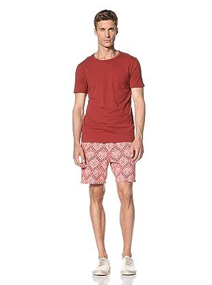 Vanishing Elephant Men's Classic Short Sleeve T-Shirt (Maroon Marle)