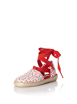 Cienta Kid's Floral Espadrille (Red)