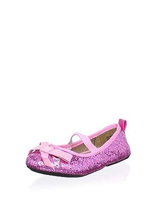 Melton Kid's Lil Glitter Ballet Flat (Toddler) (Fuchsia)