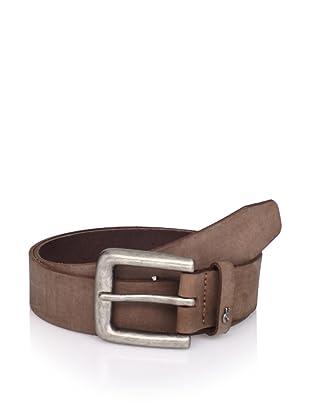John Varvatos Star USA Men's Logo Keeper Belt (Brown)