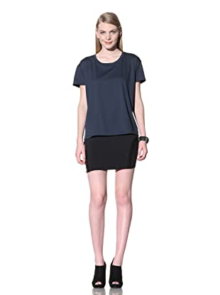 David Lerner Women's Short Sleeve BF Tee (Navy)