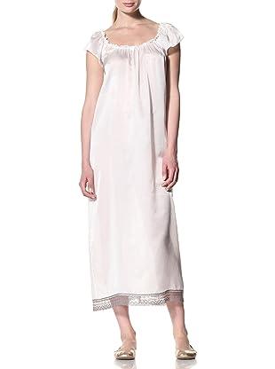 Toute la Nuit Women's Long Juliet Gown (Ivory/Grey)