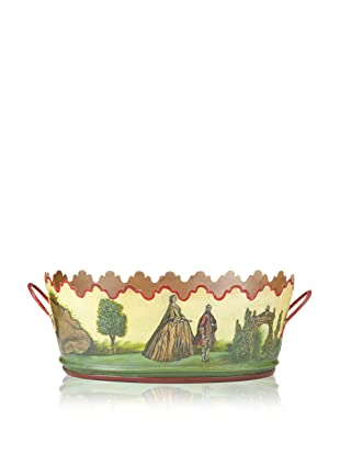 Abigails Loire-Inspired Oval Tole Cachepot with Liner