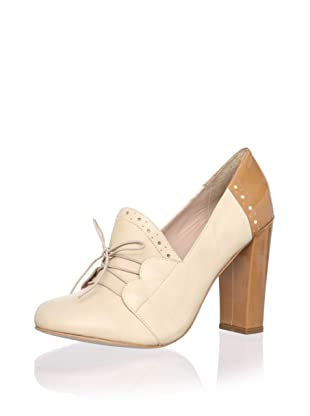 Be&D Women's Wade Lace-Up Pump (Nude Combo)