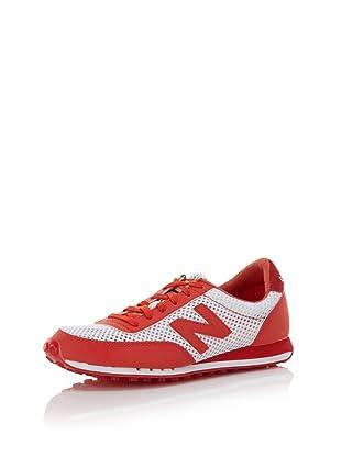 HKNB Heidi Klum for New Balance Women's 410 Sneaker (Natural/Red)