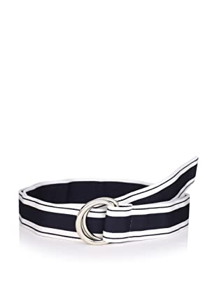 Thom Browne Men's Mogador Ribbon Belt (Navy/White)