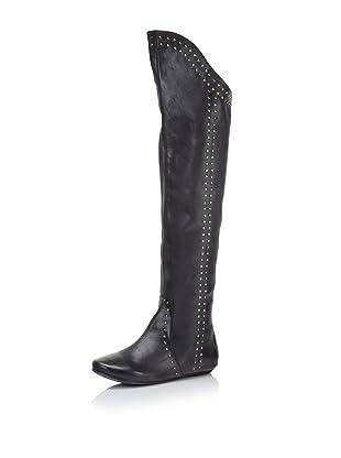 D-Segno Women's Sofia Tall Flat Boot (Maya Black)