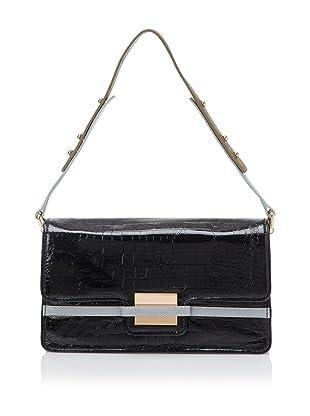 Z Spoke Zac Posen Women's Americana East/West Flap Bag (Black Croco)