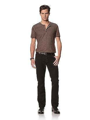 John Varvatos Collection Men's Slim Fit Jean with Pick Stitch Detail (Black)