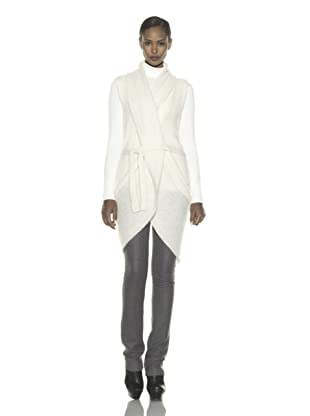 Costume National Women's Long Sweater Vest (Off white)