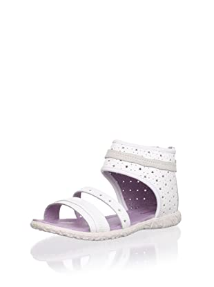 Billowy Kid's Starry Ankle Cuff Sandal (White)