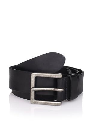 John Varvatos Star USA Men's Tumbled Leather Belt, Black, 42