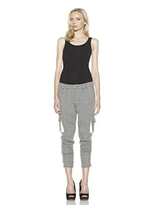 David Lerner Women's Rollup Cargo Sweatpants (Black/Camel)