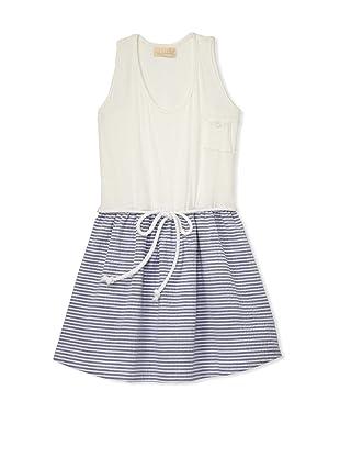 Lunchbox Girl's Stripe Seersucker Dress (Blue)