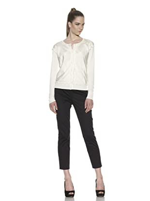 Escada Sport Women's Samara Silk Overlay Cardigan (Off white)