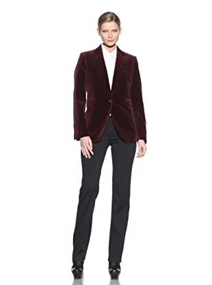 Costume National Women's Velvet Jacket (Bordeaux)