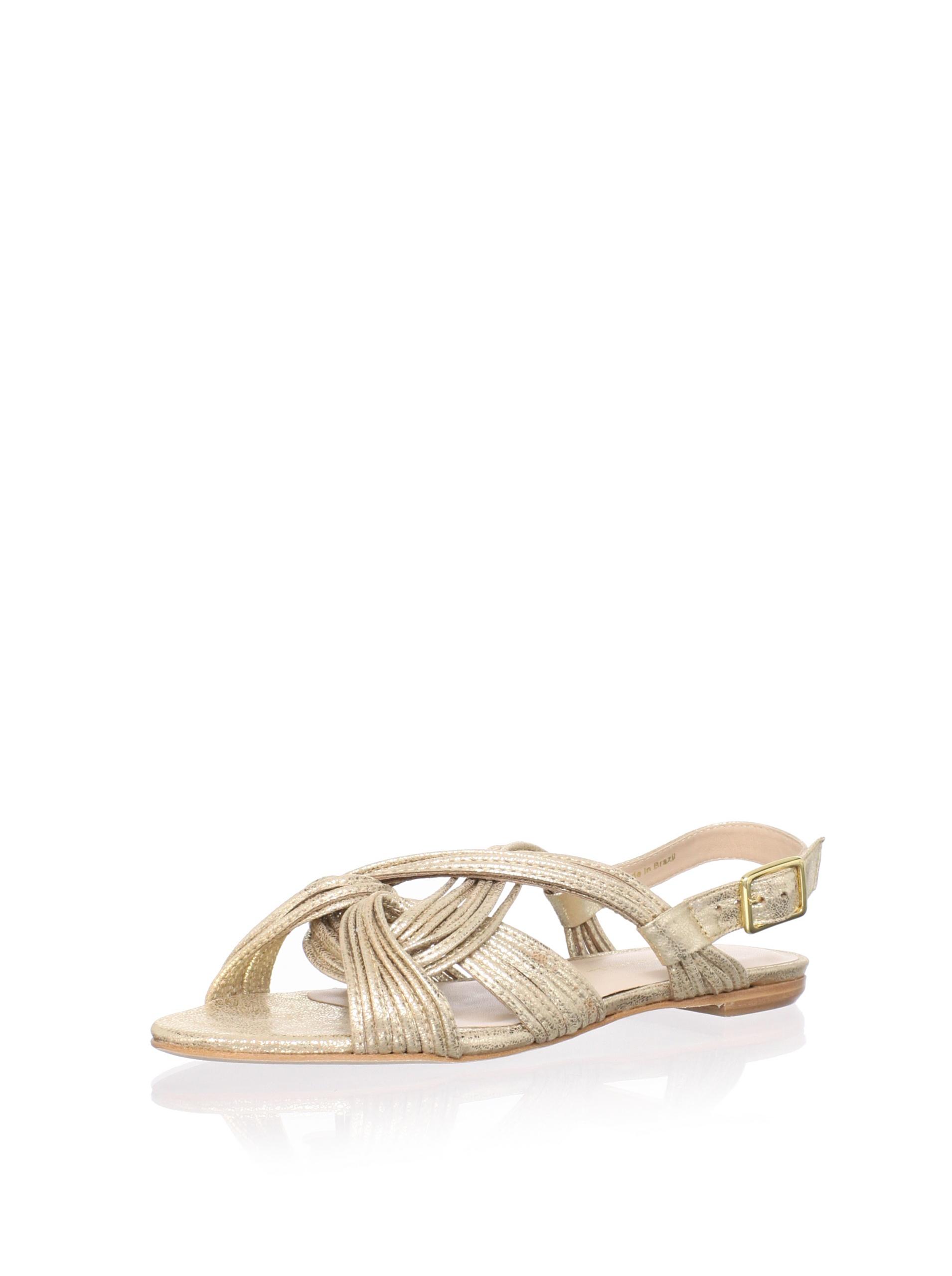 Loeffler Randall Women's Filippa Ankle-Strap Sandal (Pale Gold Metallic)
