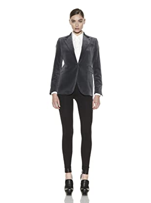 Costume National Women's Velvet Jacket (Grey)