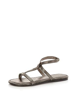 HK by Heidi Klum Women's Marly Ankle-Strap Sandal (Pewter)