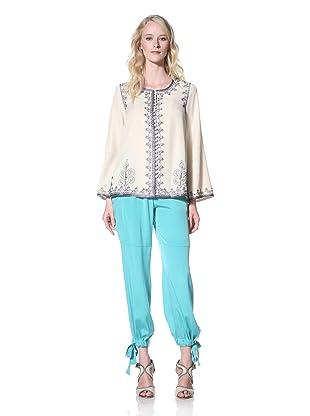 Winter Kate Women's Devi Embellished Jacket (Seed Pearl)