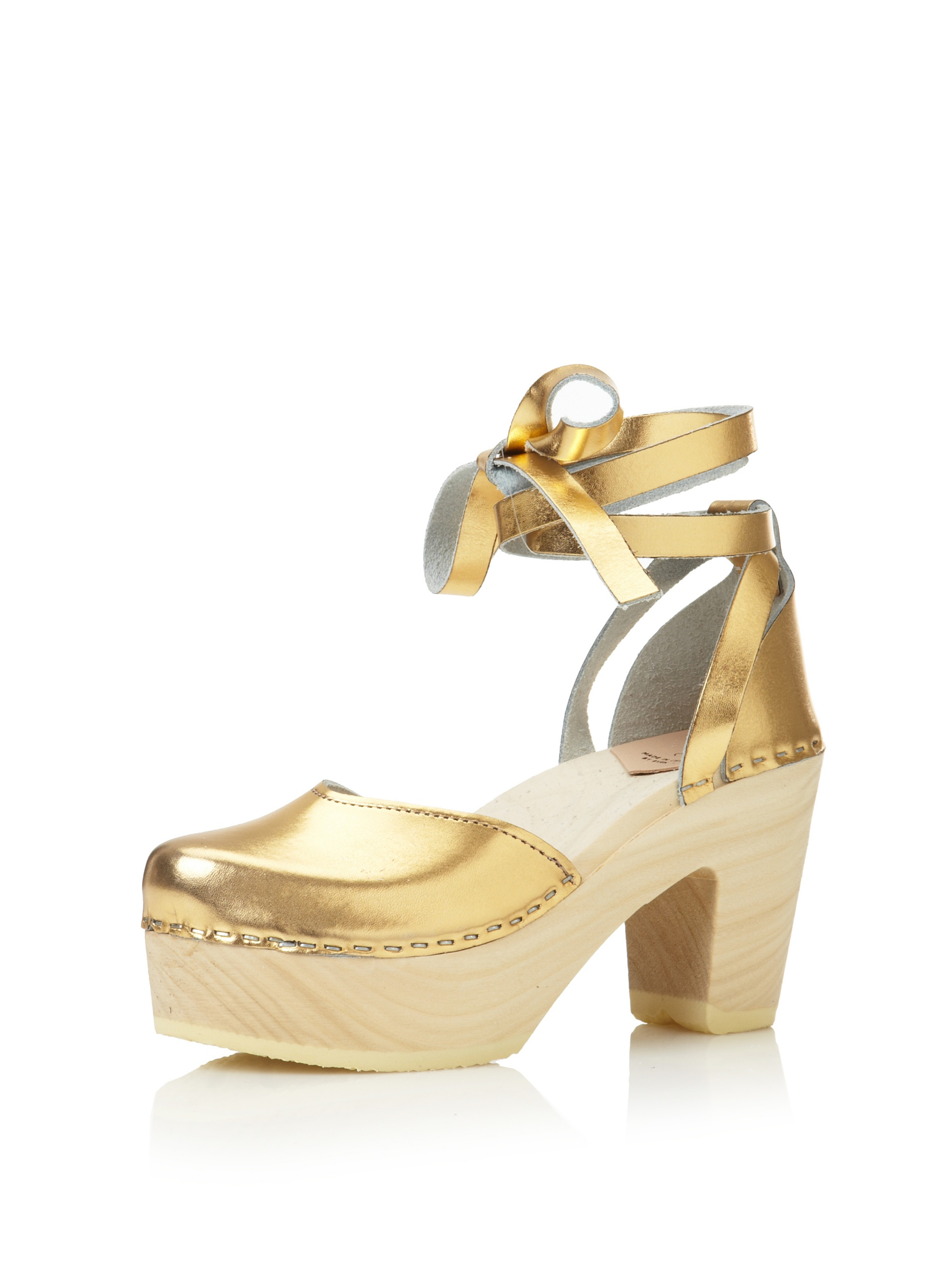Loeffler Randall Women's Uta Heeled Clog (Gold)